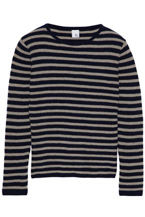 IRIS & INK Shaney striped cashmere and wool-blend sweater