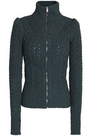 ISABEL MARANT Metallic cable-knit cardigan