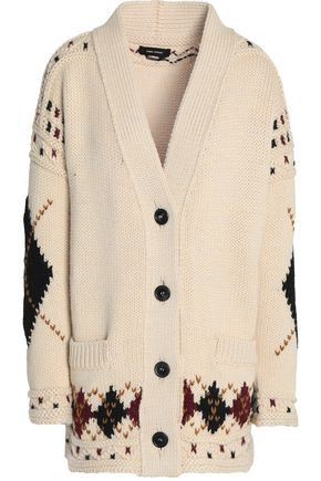 ISABEL MARANT Intarsia wool and alpaca-blend cardigan
