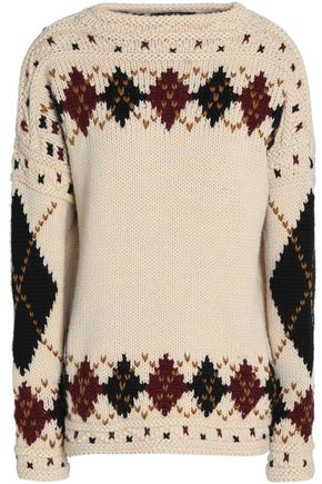 ISABEL MARANT Intarsia wool and alpaca-blend sweater