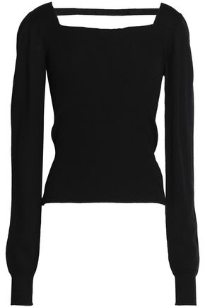CHALAYAN Cutout ribbed merino wool sweater