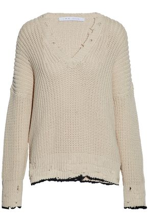 IRO Distressed cotton sweater