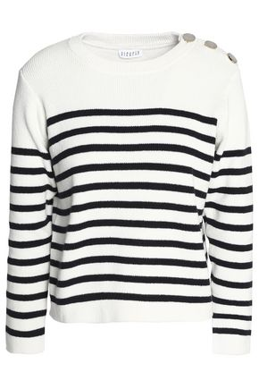 CLAUDIE PIERLOT Merlin striped cotton sweater