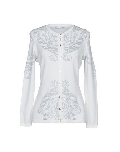 VERSACE COLLECTION Damen Strickjacke Weiß Größe 34 80% Viskose 20% Polyester