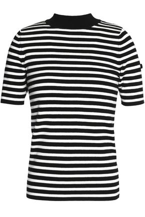 CLAUDIE PIERLOT Ming striped cotton-blend top