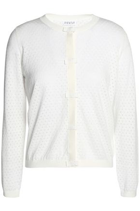 CLAUDIE PIERLOT Pointelle-knit cotton, silk and cashmere-blend cardigan