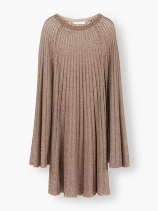 Pleated flared dress