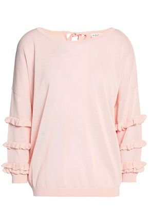 CLAUDIE PIERLOT Ruffle-trimmed knitted top