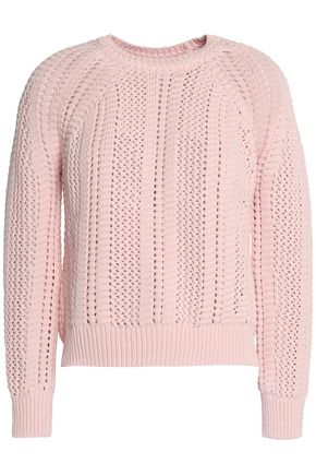 MAJE Open-knit cotton sweater