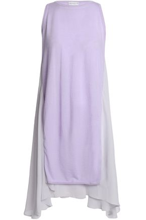AMANDA WAKELEY Helene cashmere-crepe top