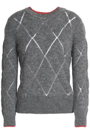 ISABEL MARANT Pointelle-trimmed knitted sweater