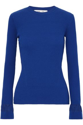 DIANE VON FURSTENBERG Ribbed stretch-knit sweater