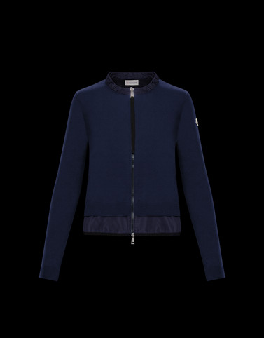 STRICKJACKE Dark blue Kategorie Strickjacken Damen