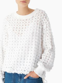 Drawstring lace sweater