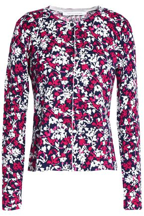 DIANE VON FURSTENBERG Floral-print cotton and silk-blend cardigan