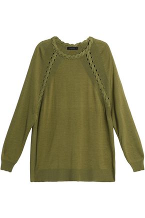 BELSTAFF Cashmere, wool and silk-blend sweater