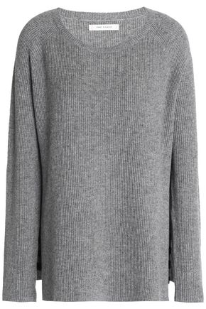 CHINTI AND PARKER Mélange ribbed wool and cashmere-blend sweater