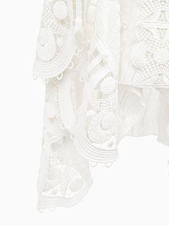 Guipure skirt