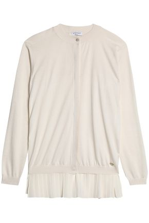 VIONNET Silk and cotton-blend crepe cardigan