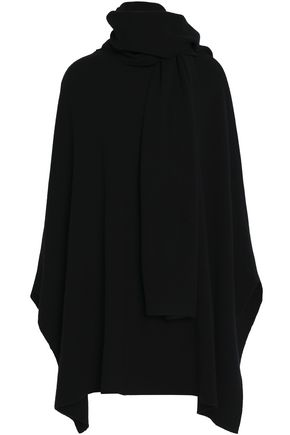 GOEN.J Wool and cashmere-blend cape