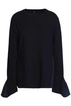 GOEN.J Wool and cashmere-blend top