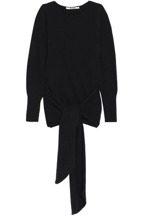 CHALAYAN Tie-front cutout wool-blend sweater