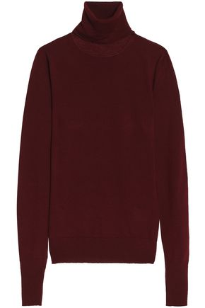 CHALAYAN Sliced merino wool turtleneck sweater