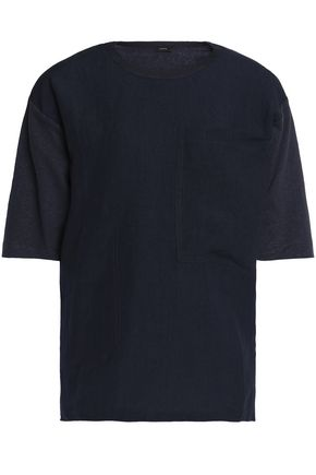 JOSEPH Slub jersery linen and cotton-blend T-shirt