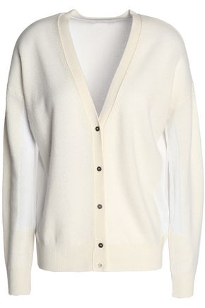 DUFFY Cashmere and cotton-blend cardigan