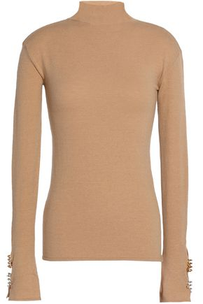 ELLERY Metallic wool-blend turtleneck sweater