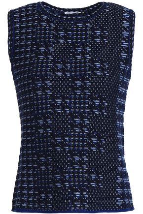 OSCAR DE LA RENTA Wool-jacquard top