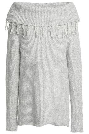 TART Tasseled ribbed cotton-blend sweater
