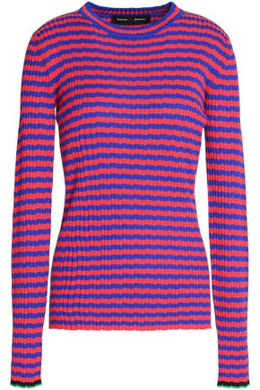 PROENZA SCHOULER Striped silk and cashmere-blend top