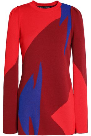PROENZA SCHOULER Color-block jacquard-knit sweater