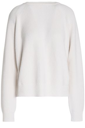 PROENZA SCHOULER Ribbed-knit cashmere and cotton-blend cardigan
