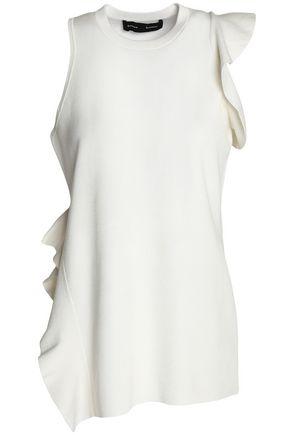 PROENZA SCHOULER Ruffled silk and cotton-blend top
