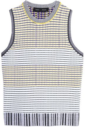 PROENZA SCHOULER Striped stretch-knit top