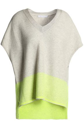 DUFFY Two-tone neon cashmere sweater