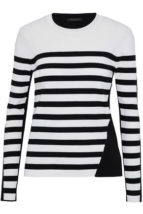 RAG & BONE Cecilee striped merino wool-blend and stretch-knit sweater