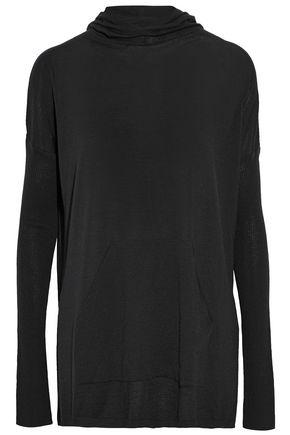 RICK OWENS Rib-paneled wool hooded sweater
