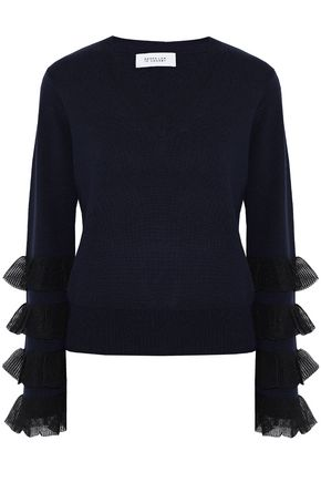 DEREK LAM 10 CROSBY Tiered wool-blend sweater