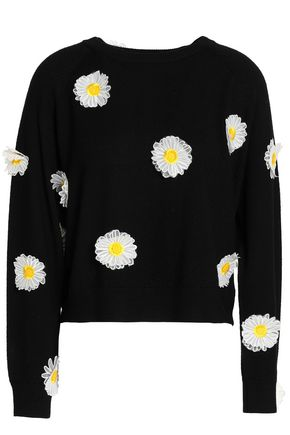 PAPER London Appliquéd wool sweater