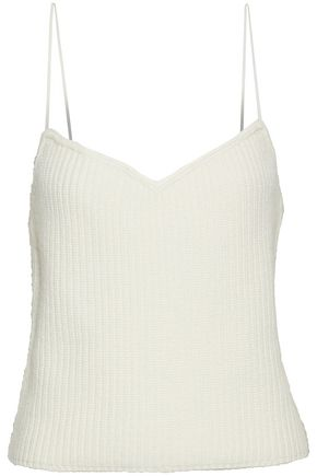 THEORY Ribbed-knit cashmere top