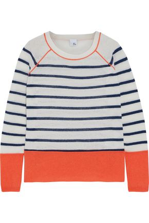 IRIS & INK Naomi striped cashmere sweater