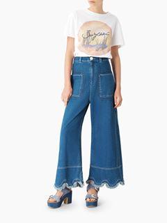 A-line denim jeans