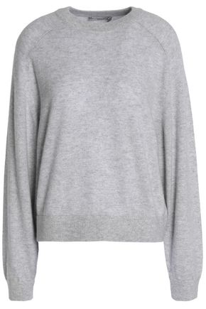 VINCE. Mélange cashmere and linen-blend sweater