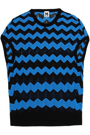 M MISSONI Cotton-blend jacquard-knit top