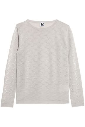 M MISSONI Wool-blend jacqaurd-knit top