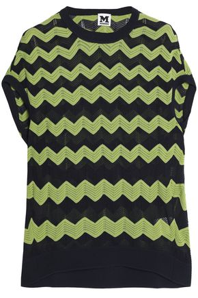 M MISSONI Cotton-blend jacquard-knit top