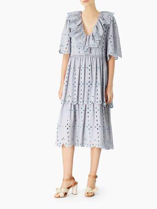 フラウンシーVネックドレス